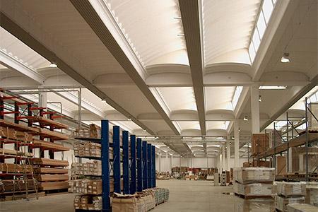 Pannelli radianti a soffitto